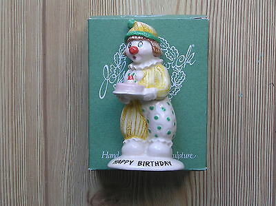 "Beswick ""happy Birthday"" Yellow/turquoise Clown (Ll8): 4.25"" Tall: Vgc & Boxed"