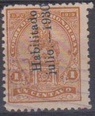 HONDURAS - 1930 1c overprinted. Scott 287. Used