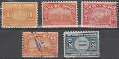 HONDURAS - 1939 Palace. Scott 336-340. Mint (one used)