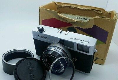 Collectable!!! Canon Canonet  35mm film Camera in great working order
