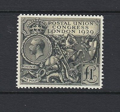 SG438: 1929 Postal Union Congress £1.00: 'Mint' Unused: Fine FORGERY