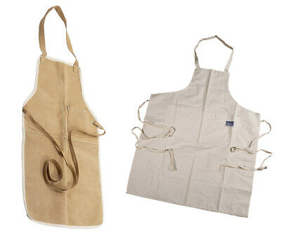 Draper Heavy Duty Long Cotton Carpenters Leather Cowhide Welders Welding Apron