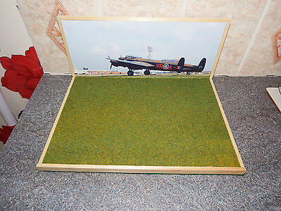 A4 Size Airfield Diorama Lancaster VeRA Backscene. Suitable for 1/72 Scale