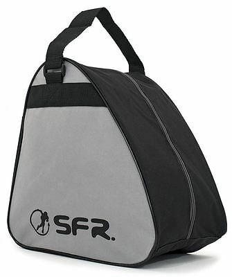 SFR Vision GT Skate/Quad/Roller Derby/Ice Skate/Figure/Hockey Bag - Black/Grey