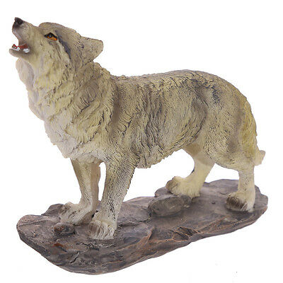 Howling Standing Wolf Figurine ~ Wild Animal Ornament Wolves Gift