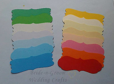Assorted Die Cut Banners Embellishments x 15. Great for peel off stickers