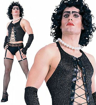 Adult Rocky Horror Show Frank n Furter Mens Halloween Fancy Dress Costume Outfit