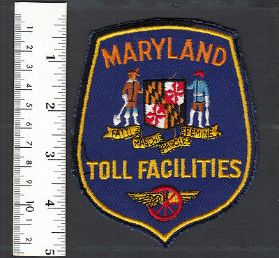 Maryland State Toll Facilities Embroidered Sew On Patch......#486BL