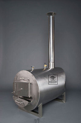 Wood fired heater/burner/stove for wooden hot tubs/pools, stainless steel