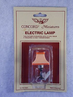 Vintage Dollhouse Miniature 1:12  Electric Lamp Concord Light Wired 12 Volt