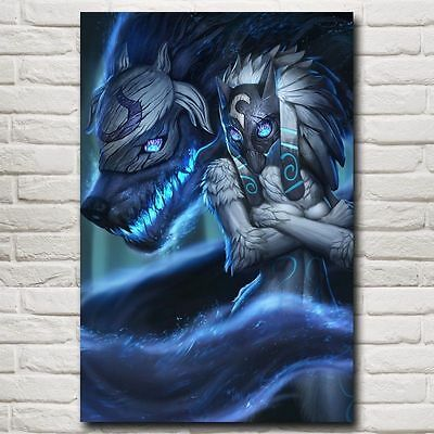 Kindred League Of Legends LoL Game Art Silk Poster Decor 24x36inch