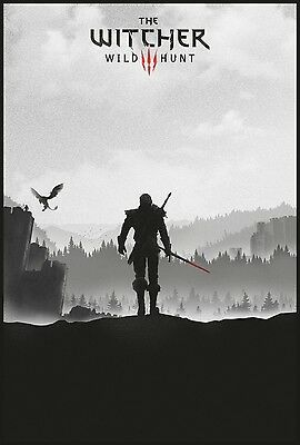The Witcher 3 Wild Hunt Hot Game Art Silk Poster 24x36inch