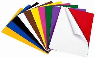 Eva Craft Foam Self Adhesive A4 Sheets in 10 Assorted Colours