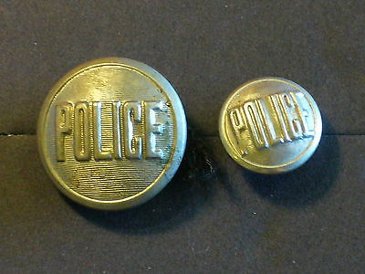 Original Canadian - Early Obsolete Police Tunic Buttons