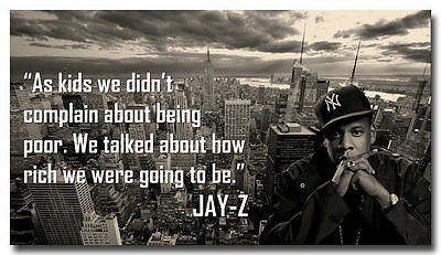 Jay-Z Quotes Music Art Silk Poster Decor 24x36inch