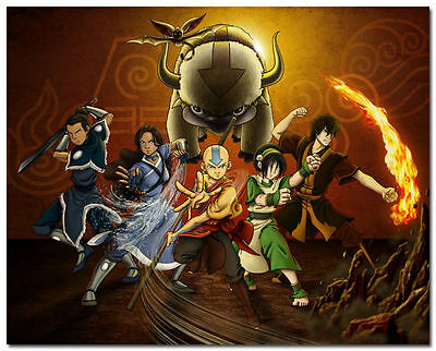 New Avatar The Last Airbender Cartoon Anime Art Silk Poster Decor 24x36inch