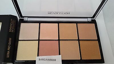 Revolution Makeup  Ultra Pro Glow 8 Powder Highlighting Palette 1St P&P