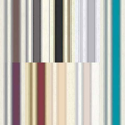Vymura Synergy Striped Wallpaper Taupe / Cream / Silver / Gold / Red / Beige