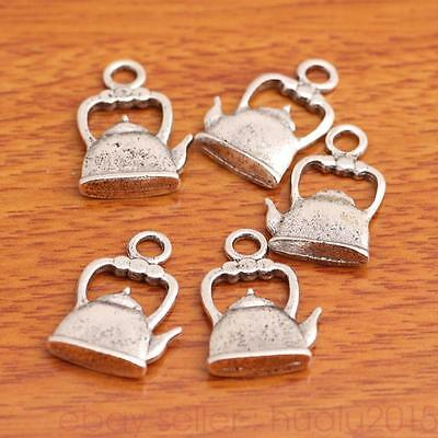 20 Piece 22*14mm 3D Teapot Charms Tibetan Silver Jewelry Making Necklace H8003