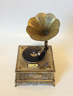 Vintage Miniature Japan Phonograph Gramophone Table Lighter with Melodic Music