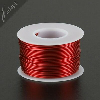 Magnet Wire, Enameled Copper, Red, 18 AWG (gauge), HPN, 155C, ~1/2 lb, 100 ft