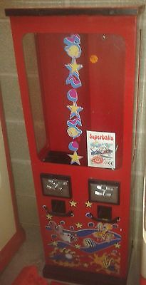 Coin Operated 2 column Vendor for Bouncy Balls or Capsules