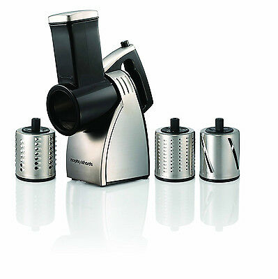 Morphy Richards Stainless Steel Food Slicer Shred Grate Machine 48401 Brand New