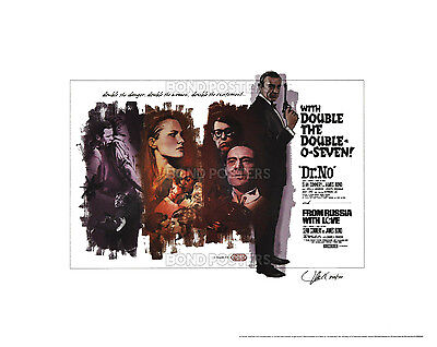 Dr. No / From Russia With Love - Ltd Ed James Bond Lithograph SIGNED by Artist