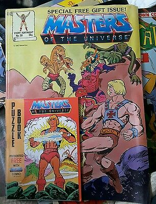 MASTERS OF THE UNIVERSE - He-Man Comic - No 39 - Date 1987 - with free gift