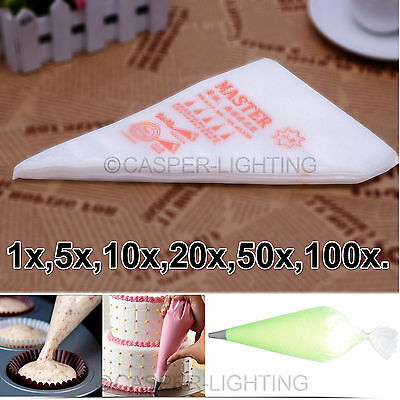 NEW Easy Small Cake Decorating Disposable Icing Ice Cream Pastry Piping Bags LOT