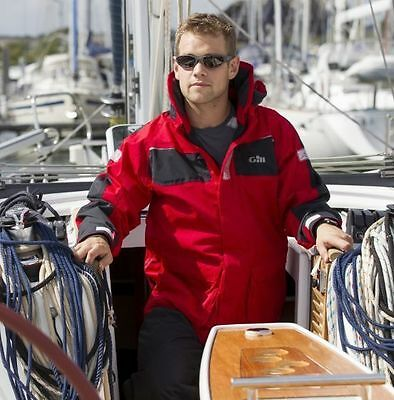 GILL Coast Sailing Jacket - Red and Navy Available