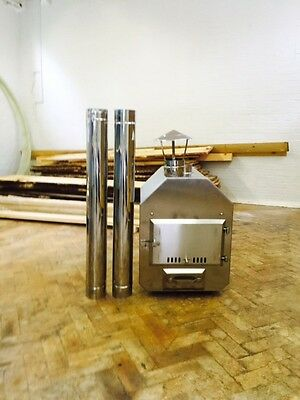 Wood fired heater for wooden hot tubs/pools, complete kit