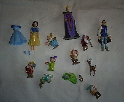 Disney Snow White Figures  Playset Dwarfs Rare Hard To Find