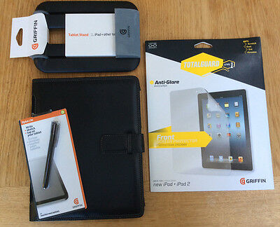 Case for iPad 2,3,4 Includes Screen Protector, Stand & Stylus - Griffin
