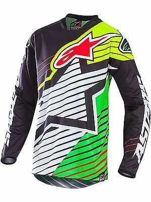 Alpinestars Black-White-Green 2017 Racer Braap - Le Vegas MX Jersey