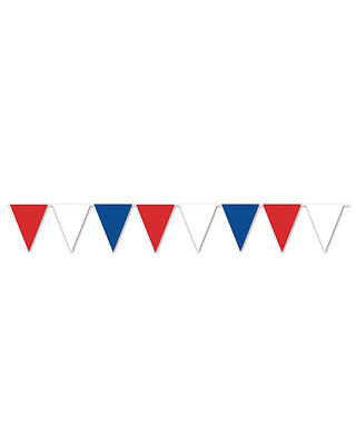 All Weather Patriotic Red White Blue Color Pennant Banner Flag Decoration
