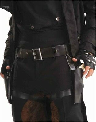 Steampunk Cowboy Costume Black Dual Double Holster Belt