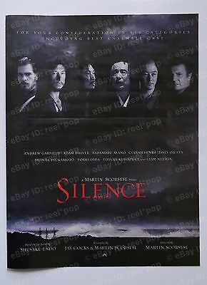 SILENCE Martin Scorsese Adam Driver OSCAR AD 2016 Full Page Andrew Garfield