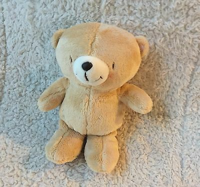 """FOREVER FRIENDS Hallmark Crinkle Tan Pink Dots Plush Teddy BEAR Baby 8"""" Crinkly"""