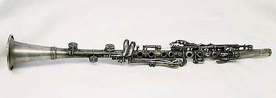 Antique or Vintage *  Boston Wonder *  Silver Plated Clarinet. no case.