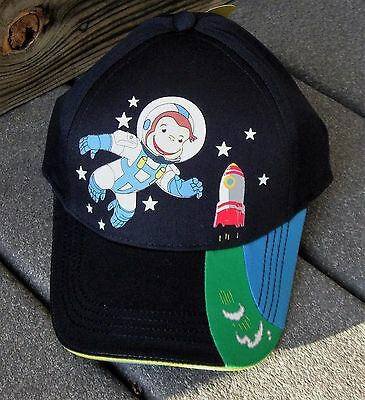 Curious George Child Size Baseball Hat PBS TV Kids Rocket Astronaut adjustable