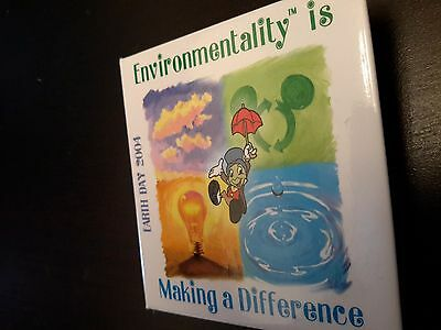 Jiminy Cricket Earth Day Button 2004 on Making a difference