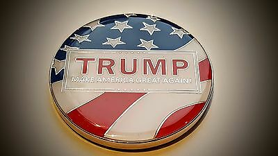 Donald Trump Metal Coin Campaign Military Support Challenge Coin