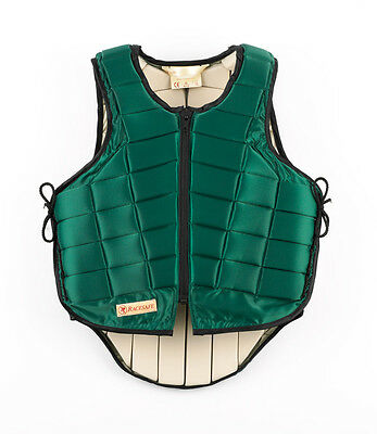 New Racesafe Body Protector, Childs Large Standard Back Green