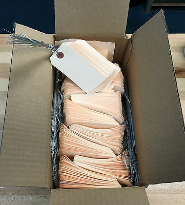 Manila Shipping Tags 13pt. 2 1/8 x 4 1/4 Pre Wired, 1000 Per Box. Free Shipping