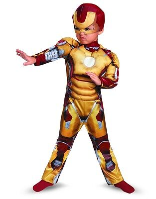 Marvel Iron Man Mark 42 Toddler Muscle Costume Small 4-6