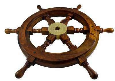 Wooden Steering Wheel Boat Ships Pirate Ship Captains Nautical Decor New
