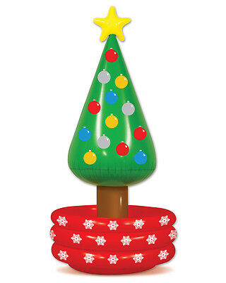 """New 26"""" x 4' 8"""" Inflatable Christmas Tree Party Cooler Party Decoration"""