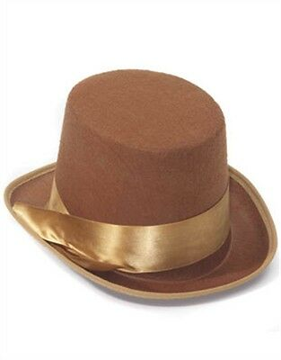 Steampunk Cowboy Brown Costume Bell Topper Top Hat