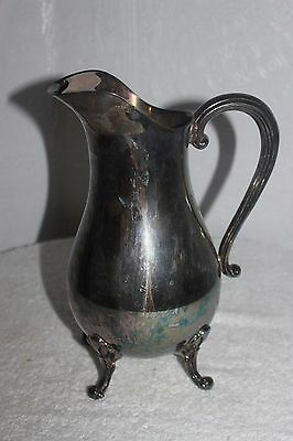 Vintage Reed and Barton Silverplate Large Iced Tea Footed Pitcher